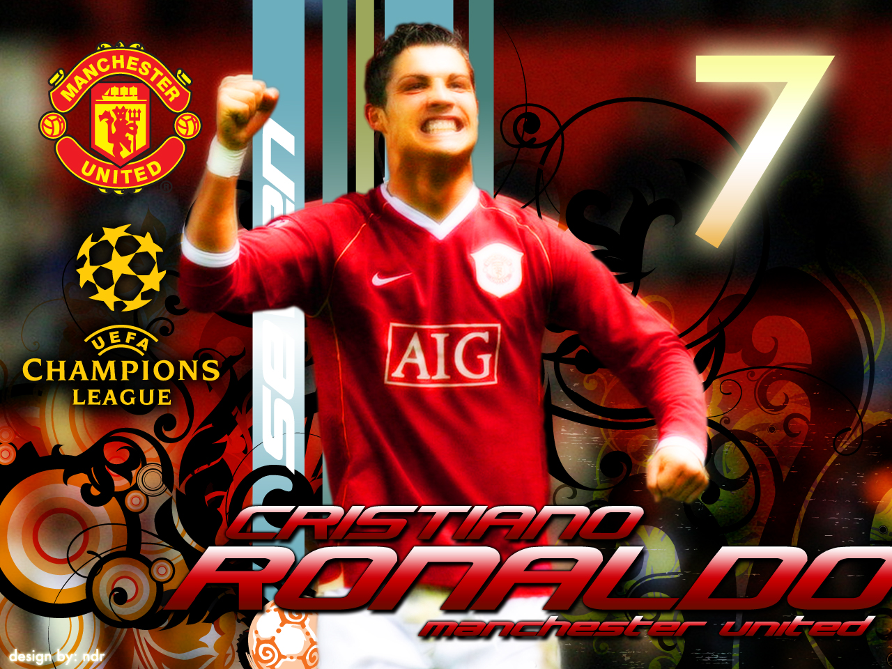 cristiano ronaldo wallpaper manchester united Photo