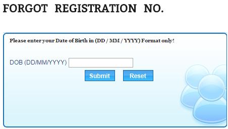 Forgot Registration Number