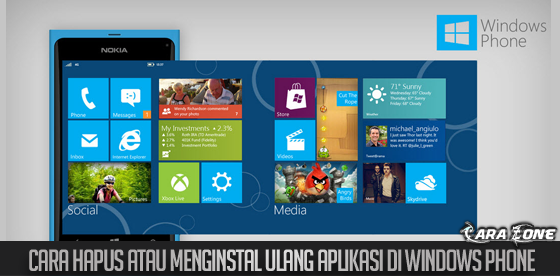 Cara Hapus atau menginstal ulang aplikasi di windows phone