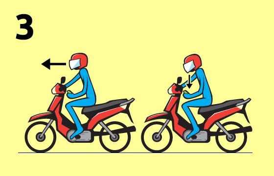 Cara Ngetik SMS Sambil Nyetir Motor