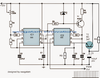 Motor Soft Start Circuit Using Pulse Width Modulation