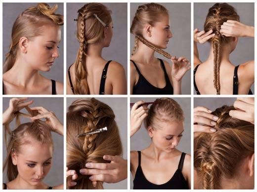 imagens de penteado moicano moderno