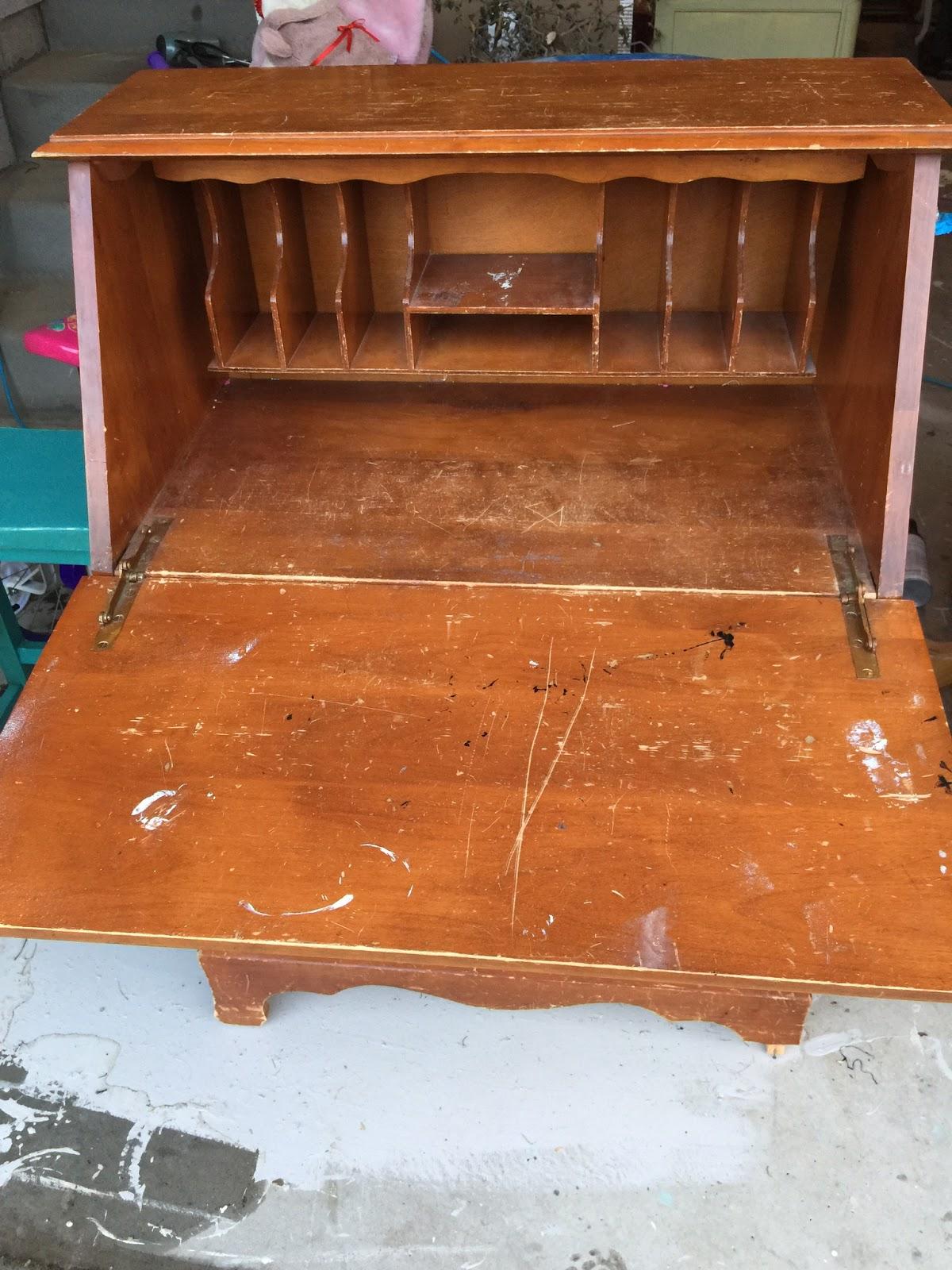 vintage fold down desk start at home decor