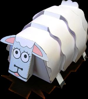 Christmas Sheep Papercraft