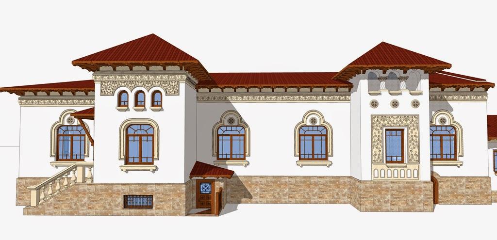 proiect fatade case neoromaneti, proiect arhitect