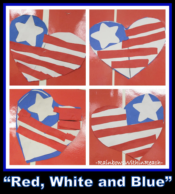 photo of: Patriotic Hearts for President's Day Craft via RainbowsWithinReach