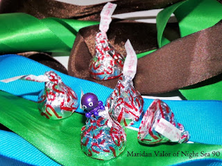 DIY octopus beads; cute little craft using beads and glue. Octopus bead has claimed this candy mountain as his own.
