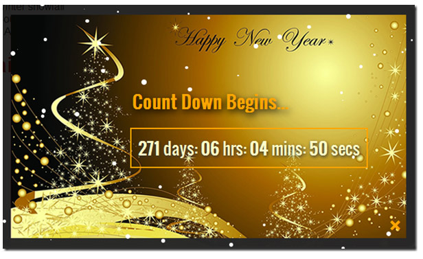 happy new year jquery popup for sites