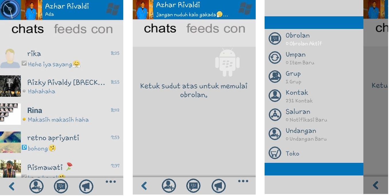 Download BBM Mod Cloning Tema Windows Phone For Android