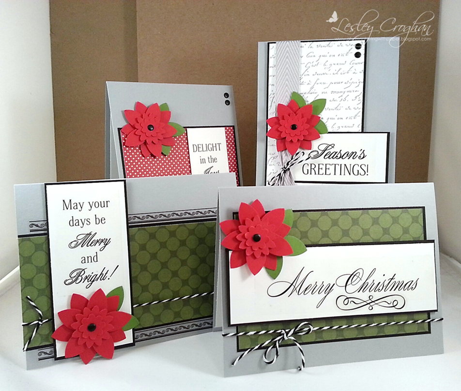 srm stickers fancy christmas cards by lesley