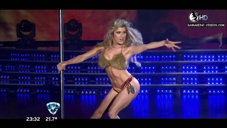 Argentina Celebrity Laura Fernandez in the pole dance damageinc-videos HD 720p