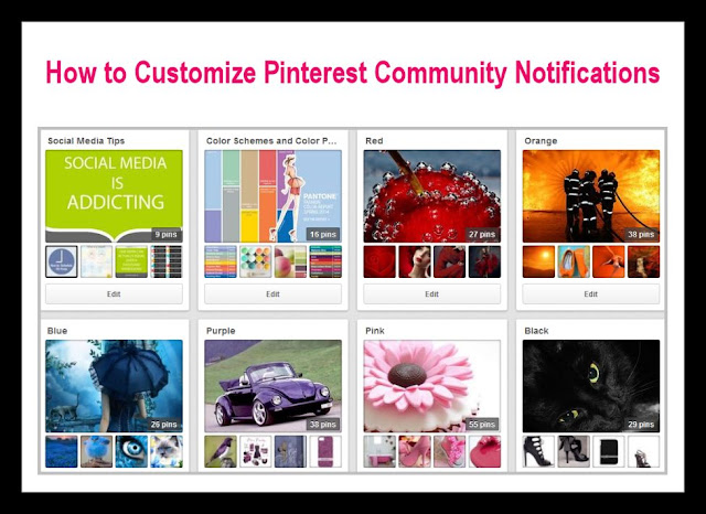 Pinterest Tutorial: How to customize Community Notifications - Blog Post by Photography TK Designs