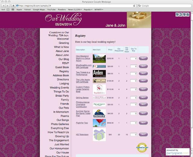 Sample Wedding Gift Registry List : Heres a sample of a Registry 10 Gift Registry.