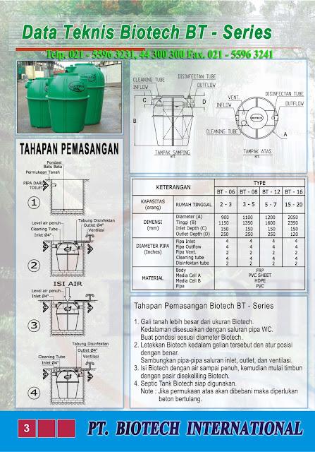 cara pasang septic tank biotech, brosur septic tank biotech, katalog, brochure, sepiteng biotek, portable toilet fibreglass. BACTERIA POWDER, BUBUK BAKTERI PENGURAI, GREASE TRAP FRP