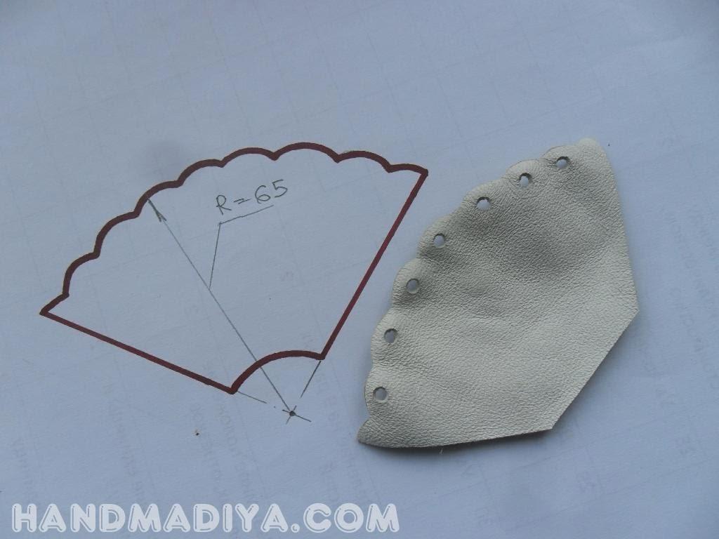 Бутоньерка из кожи своими руками.  Boutonniere leather DIY step-by-step tutorials
