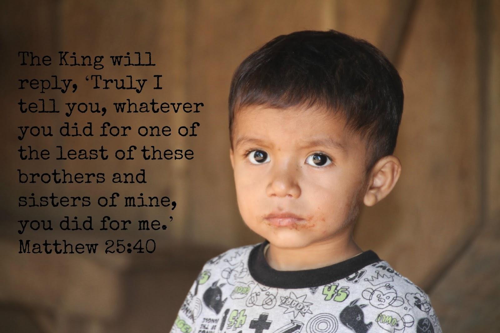 BUILDING THE BLOCKS...: Matthew 25:40 Challenge!!