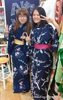 Girls wearing Yukata at Kimono House in NY
