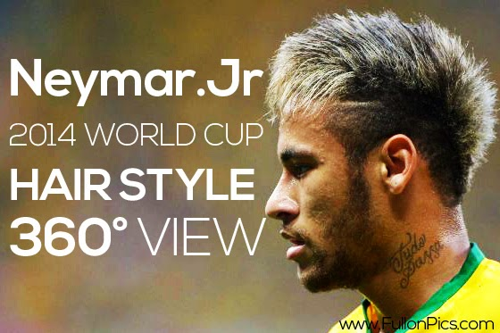 Get Neymar .jr's 2014 world cup fifa hairstyle by this 360° View photo collection
