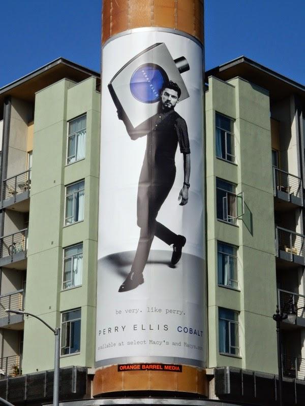 Perry Ellis Cobalt fragrance billboard