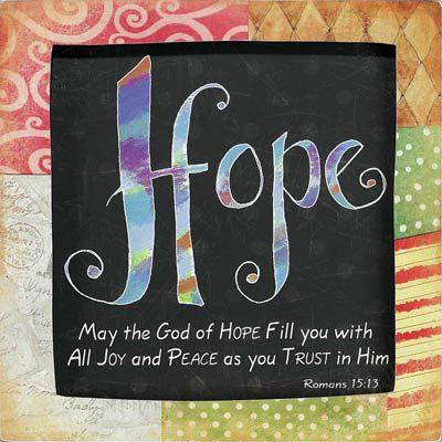 With Faith Comes Hope