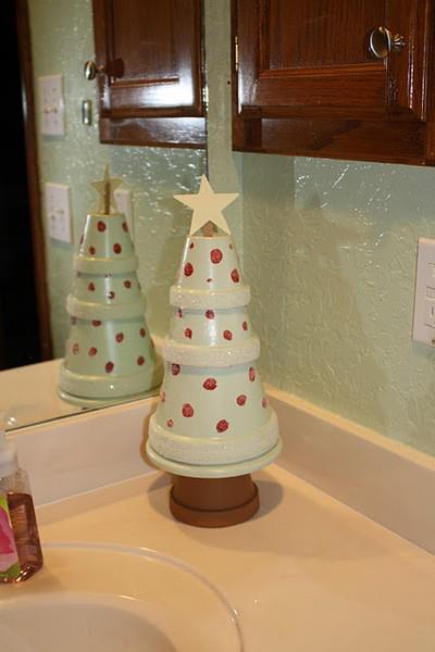 Banheiro decorado para o natal ~ Arte De Fazer  Decoração e Artesanato -> Banheiro Decorado Para Natal