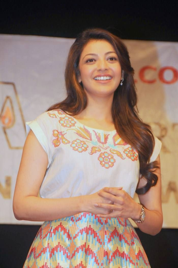 Actress Kajal Aggarwal Latest Cute Hot Spicy Photos Gallery At NGO Alert India Event