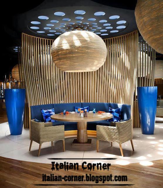 Cafe decoration with italian ideas design