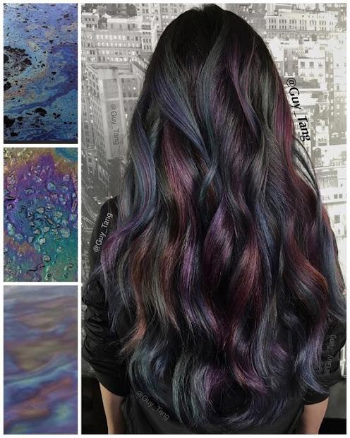 trendy oil slick coloring girls