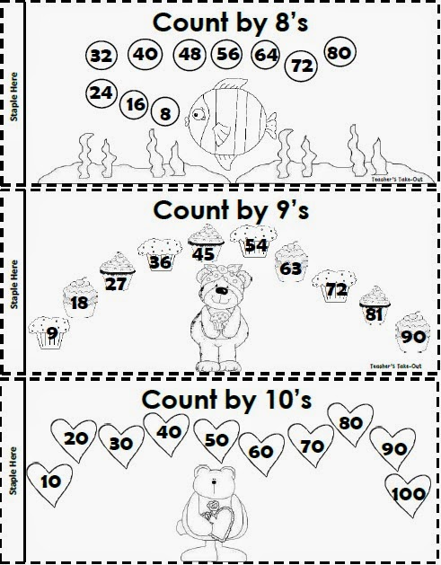 Teacher's Take-Out: Skip Counting Booklet - Freebie
