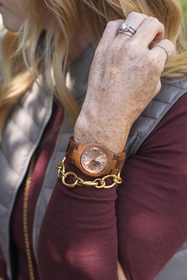 jord wood watch, julie vos bracelet