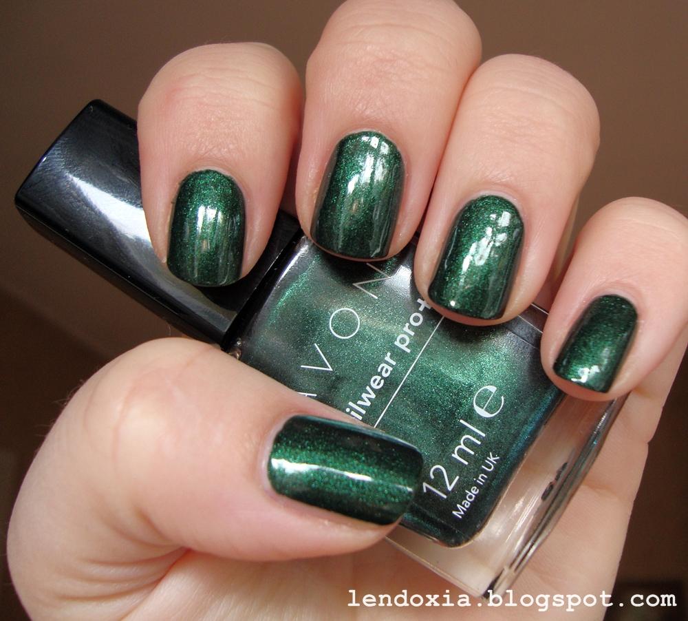 zeleni avon lak za nokte