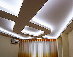 LED ceiling lights for false ceiling, LED strip lighting in the interior