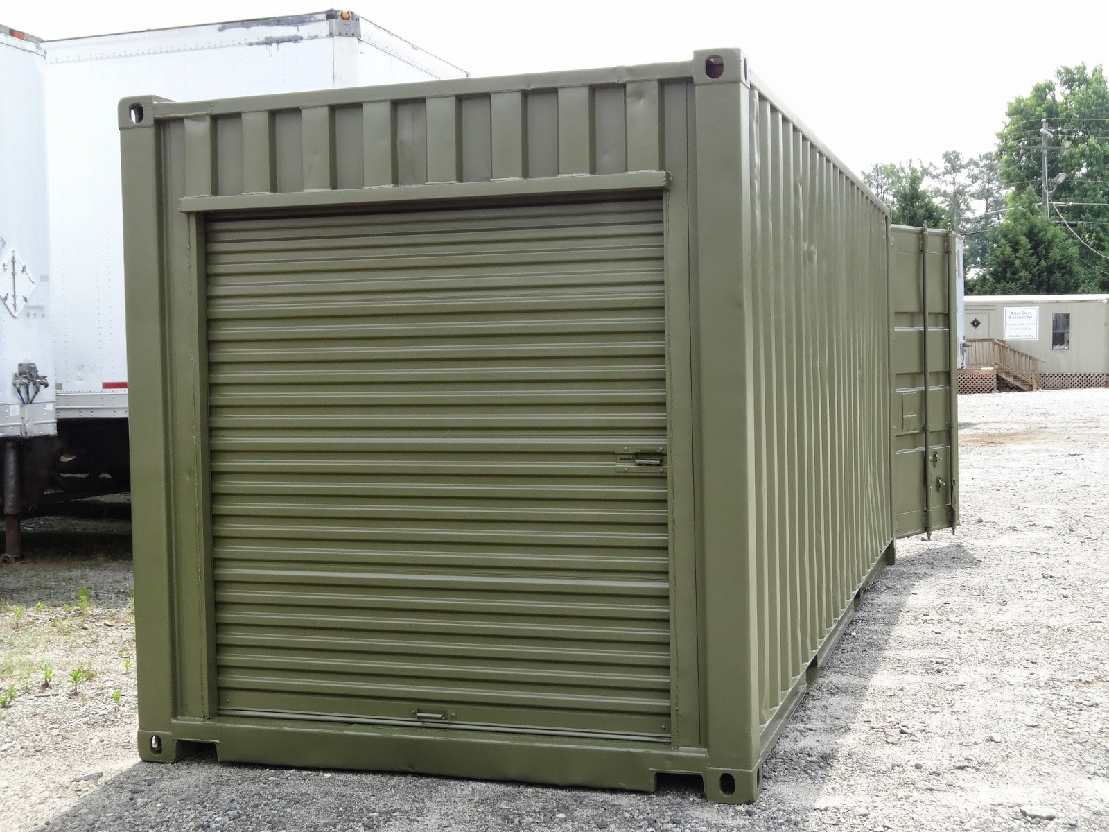 Used 20\u0027 Shipping Container fully refurbished with roll up door added & Storage Containers with roll up doors-easy to use! | Atlanta Used ...