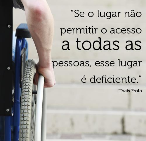 Frase sobre acessibilidade