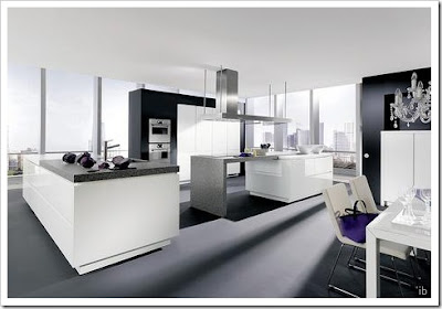 modern kitchen design in white - stainless steel