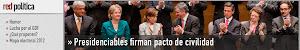 Firman presidenciables pacto de civilidad