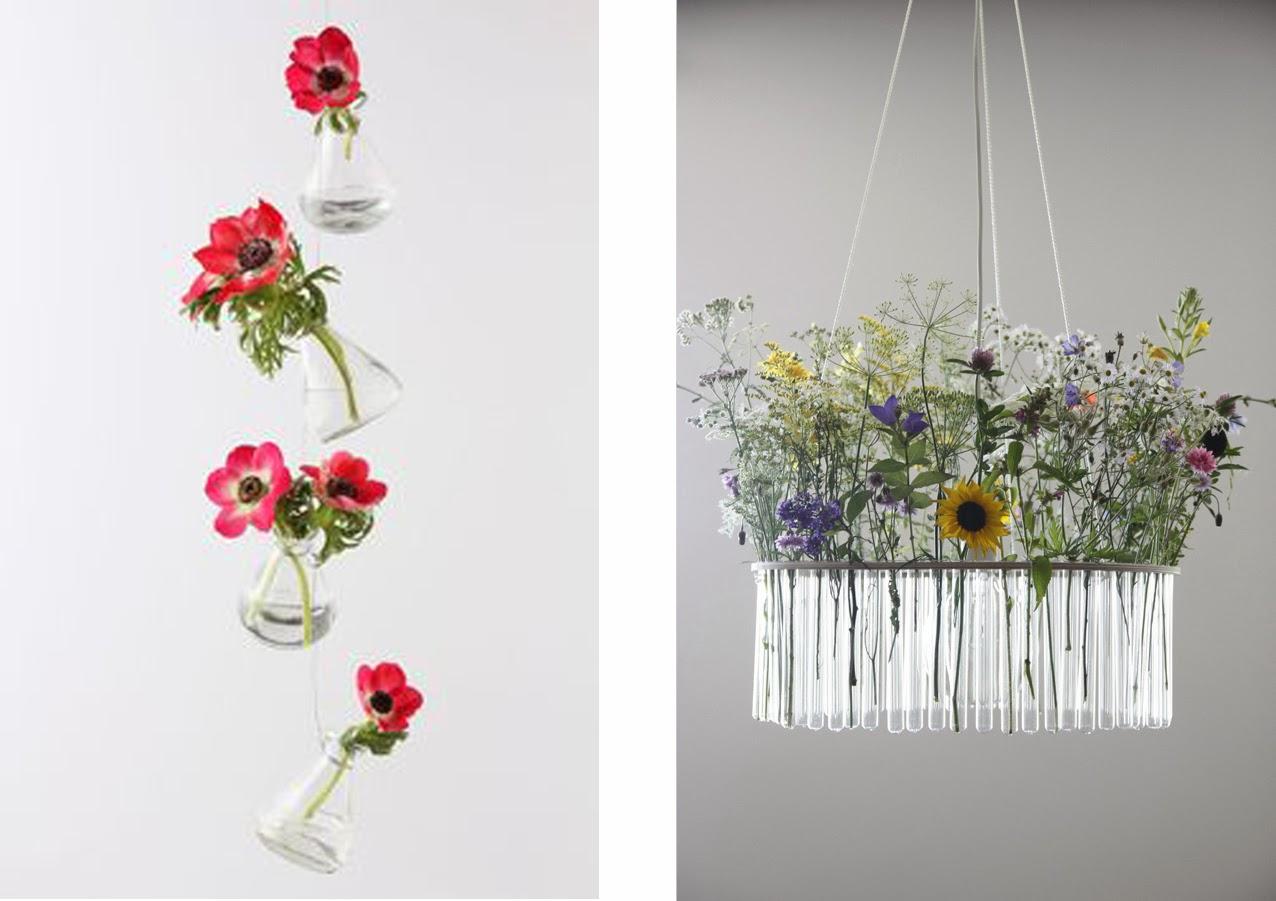 Intrecci creativi fiori in vasi appesi for Vasi appesi