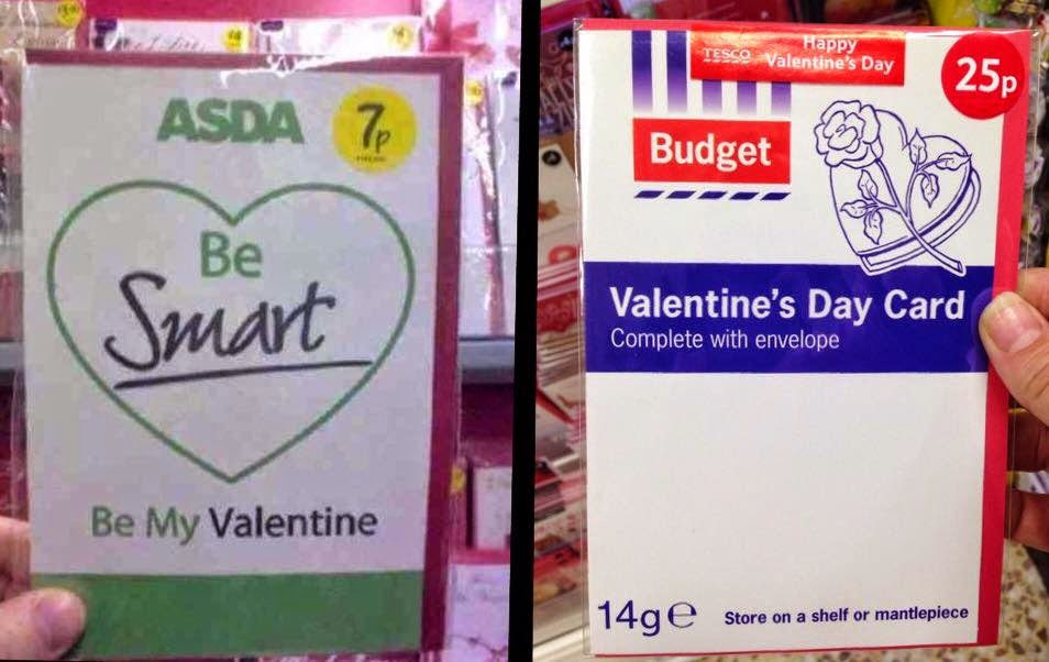 superstition is all we have left stylish Valentine – Asda Valentine Card