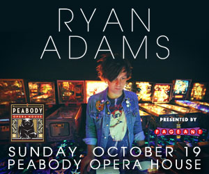 Ryan Adams at The Peabody Opera House on October 19th