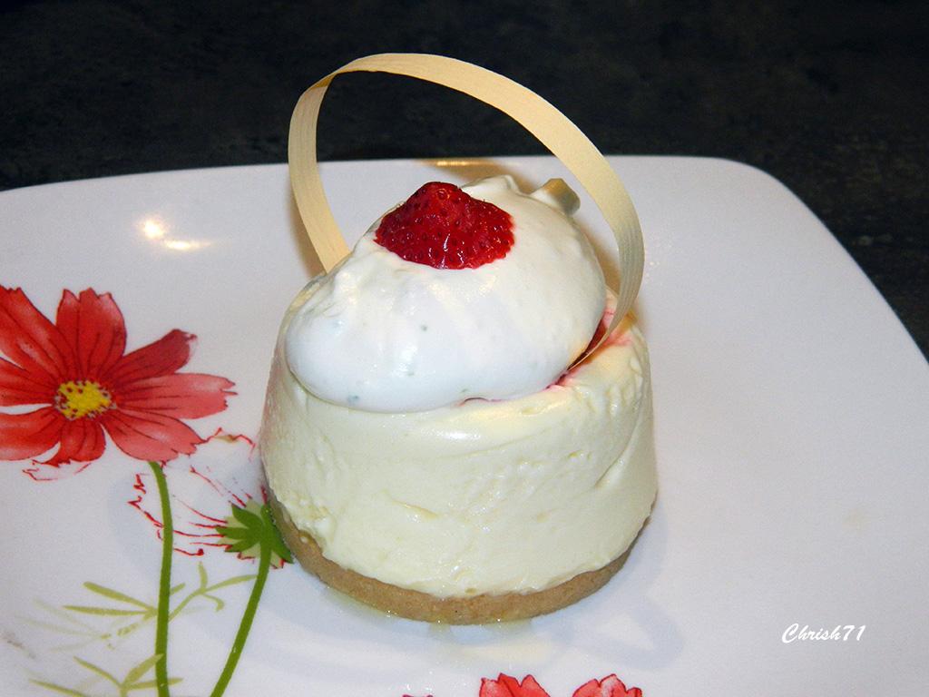 Cheese Cake fraise / rhubarbe (Christophe Michalak)
