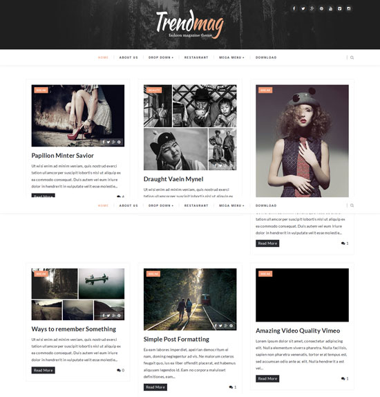TrendMag - Best Simple Blogger Templates