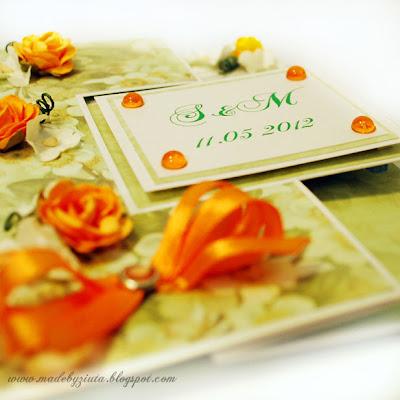 kartki okolicznościowe kartka weselna ślub kartka typu swing barbara wójcik