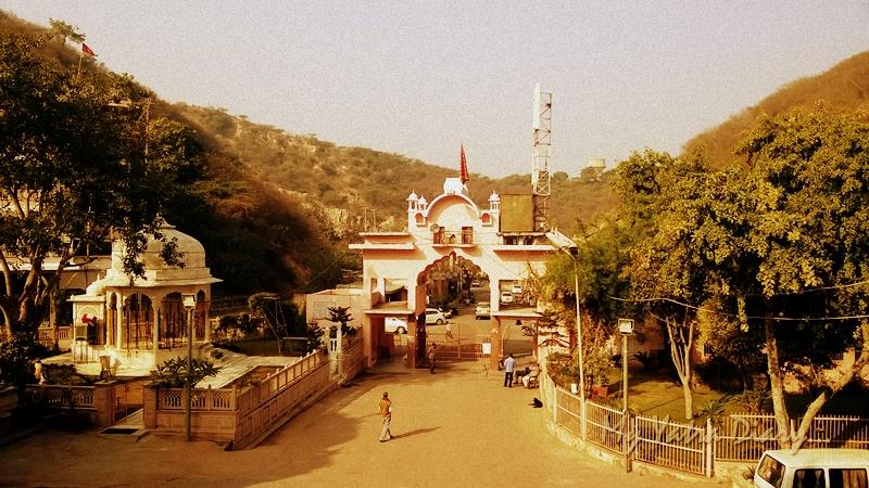 The landscape overlooking Khole Ke Hanumanji Temple, Jaipur, Rajasthan