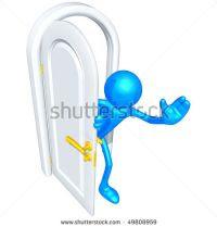 olá pela porta