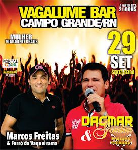 Dagmar Gondim e Marcos Freitas neste dia 29 de Setembro no Vagalume Bar em Campo Grande