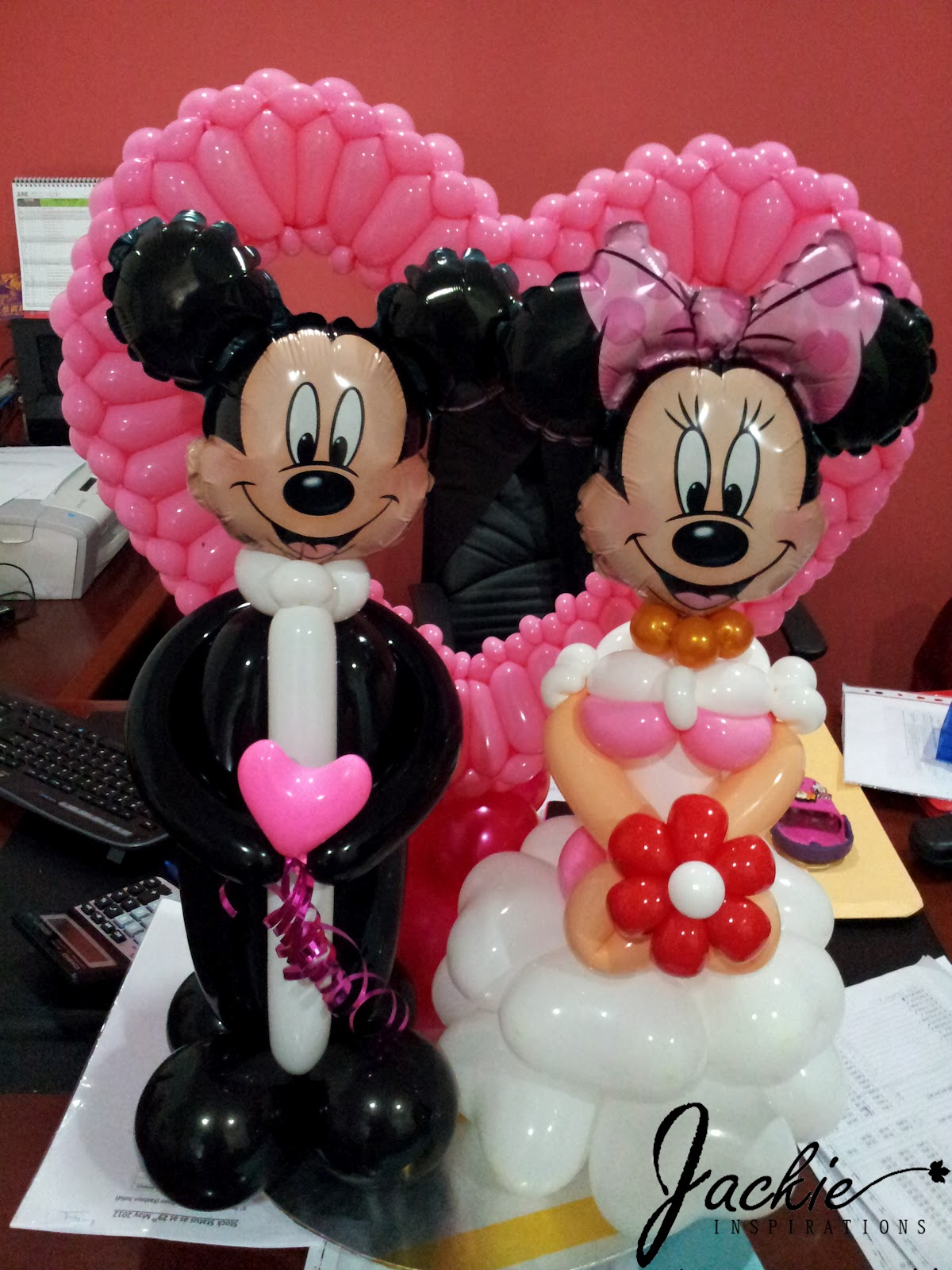 Balloon decorations for weddings birthday parties balloon mickey minnie wedding decoration junglespirit Images