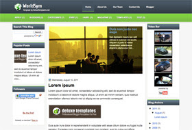 WorldSym Blogger Template