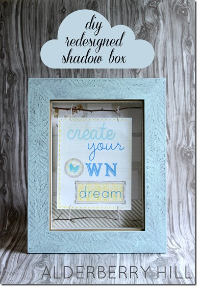 Alderberry Hill, DIY Redesigned Shadow Box