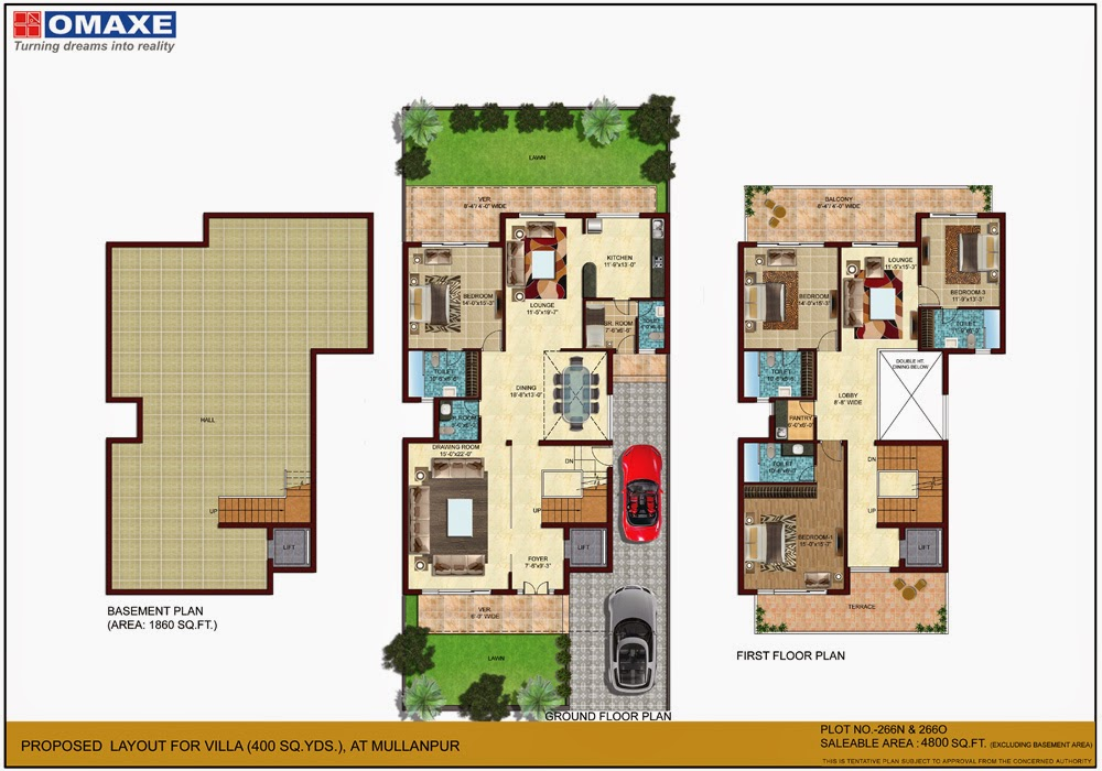Omaxe mulberry villas mullanpur real estate india for 300 yards house plan