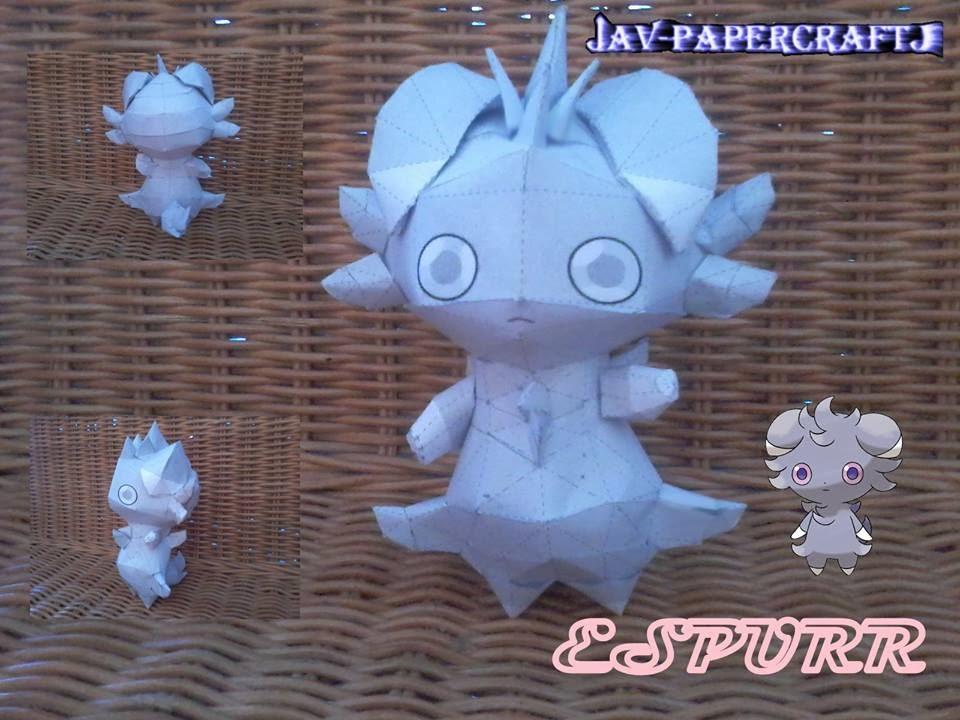 Pokemon Espurr Papercraft